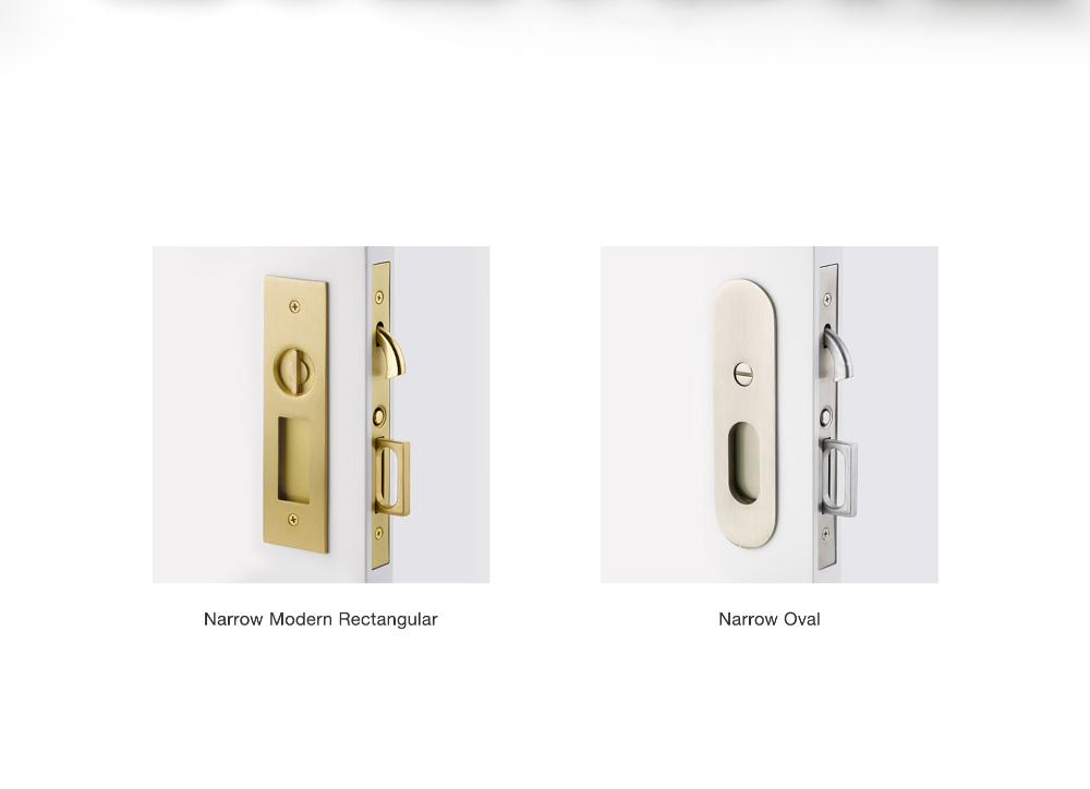 Narrow Trims Pocket Door Mortise Locks August 14 2019 Emtek S New