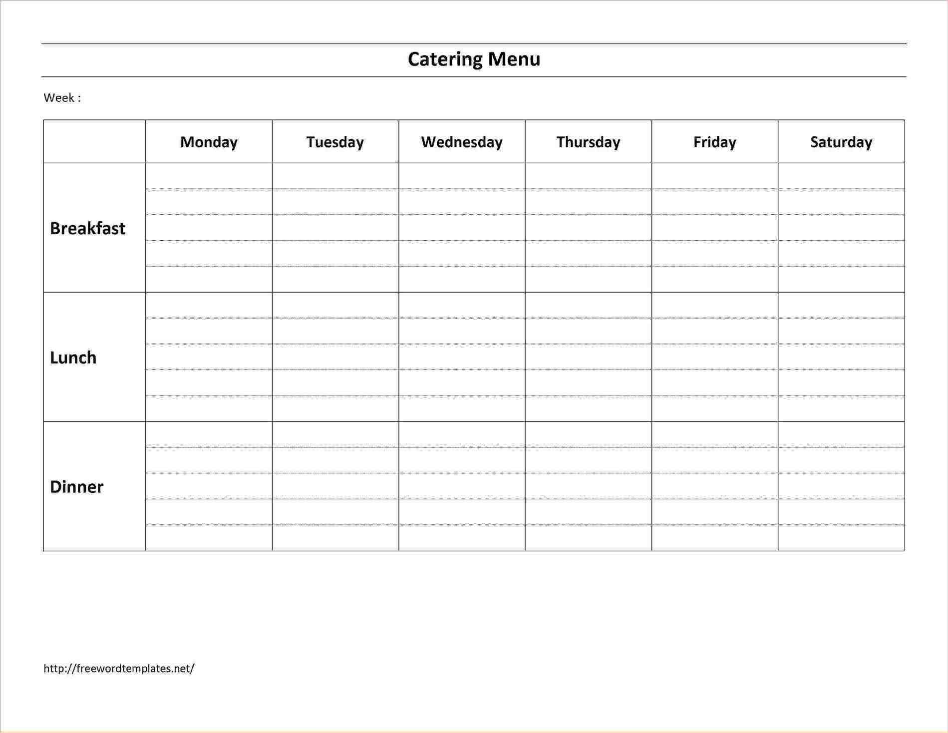 catering menu templates free download free tamplate pinterest