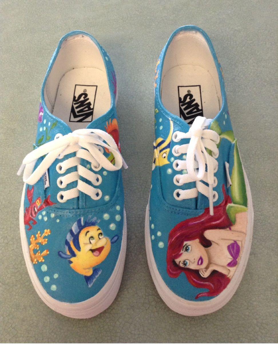 little mermaid shoes vans