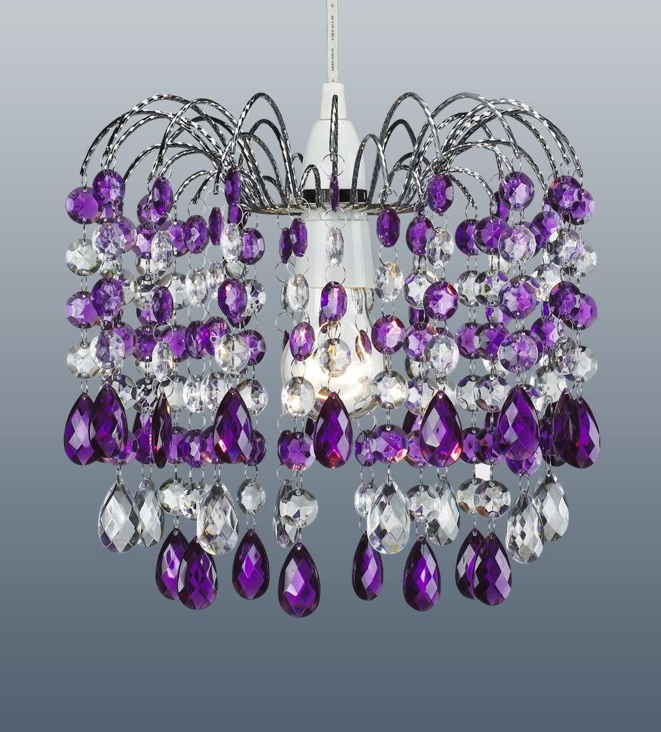 Retro style barcelona purple crystal waterfall chandelier pendant retro style barcelona purple crystal waterfall chandelier pendant light shade arubaitofo Image collections