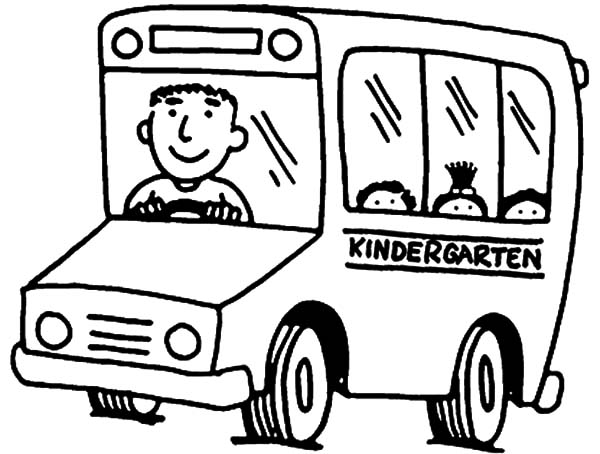 Kindergarten Bus Driver Coloring Pages : Best Place to