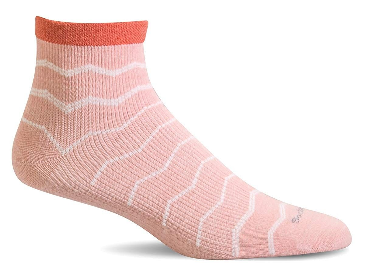 Women's Plantar Fasciitis Firm Compression Socks - Rose - CL18MDXCXKT - Sports & Fitness Clothing, W...