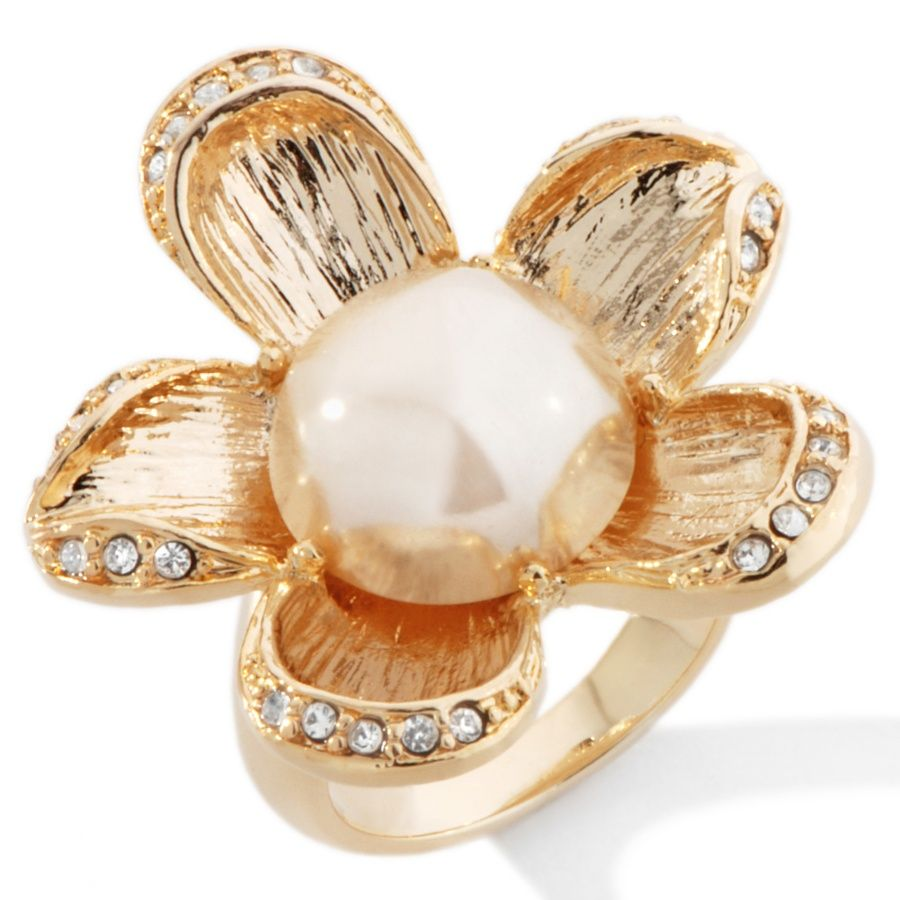 "Jewelry of Legends Collection™: Inspired by Marilyn Monroe ""Flower"" Crystal Ring at HSN.com"
