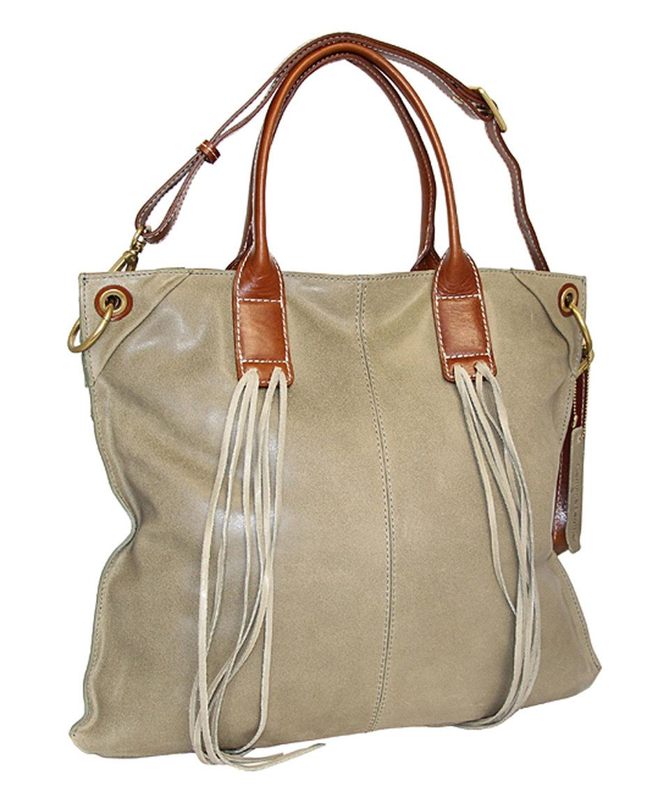 Love This Nino Bossi Handbags Pale Green Water Lily Petal Leather Tote By On Zulily Zulilyfinds
