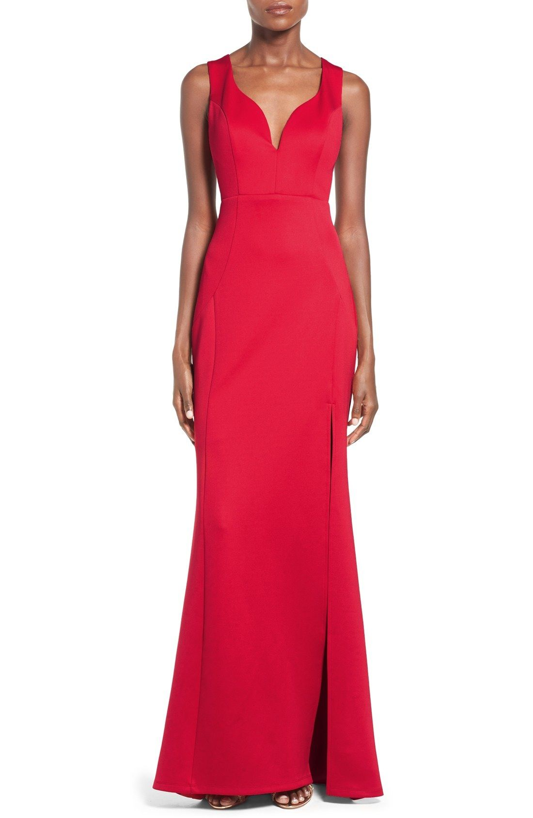 Love, Nickie Lew 'Venus' Side Cutout Gown available at #Nordstrom