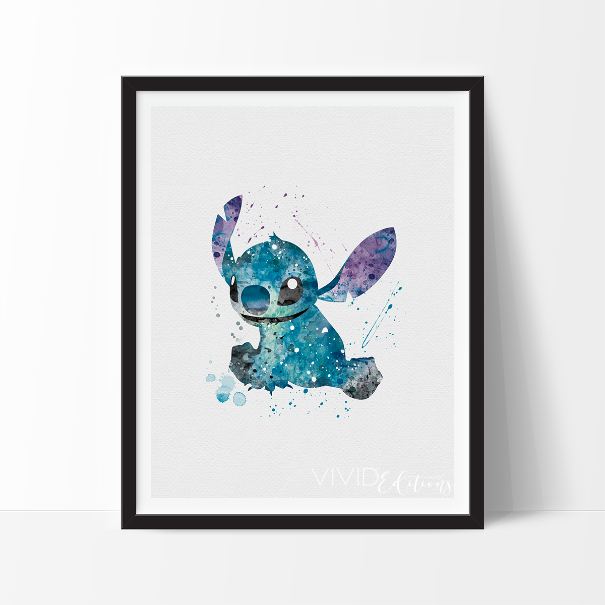 Stitch, Lilo & Stitch Watercolor Art Print   Fondo pantalla ...