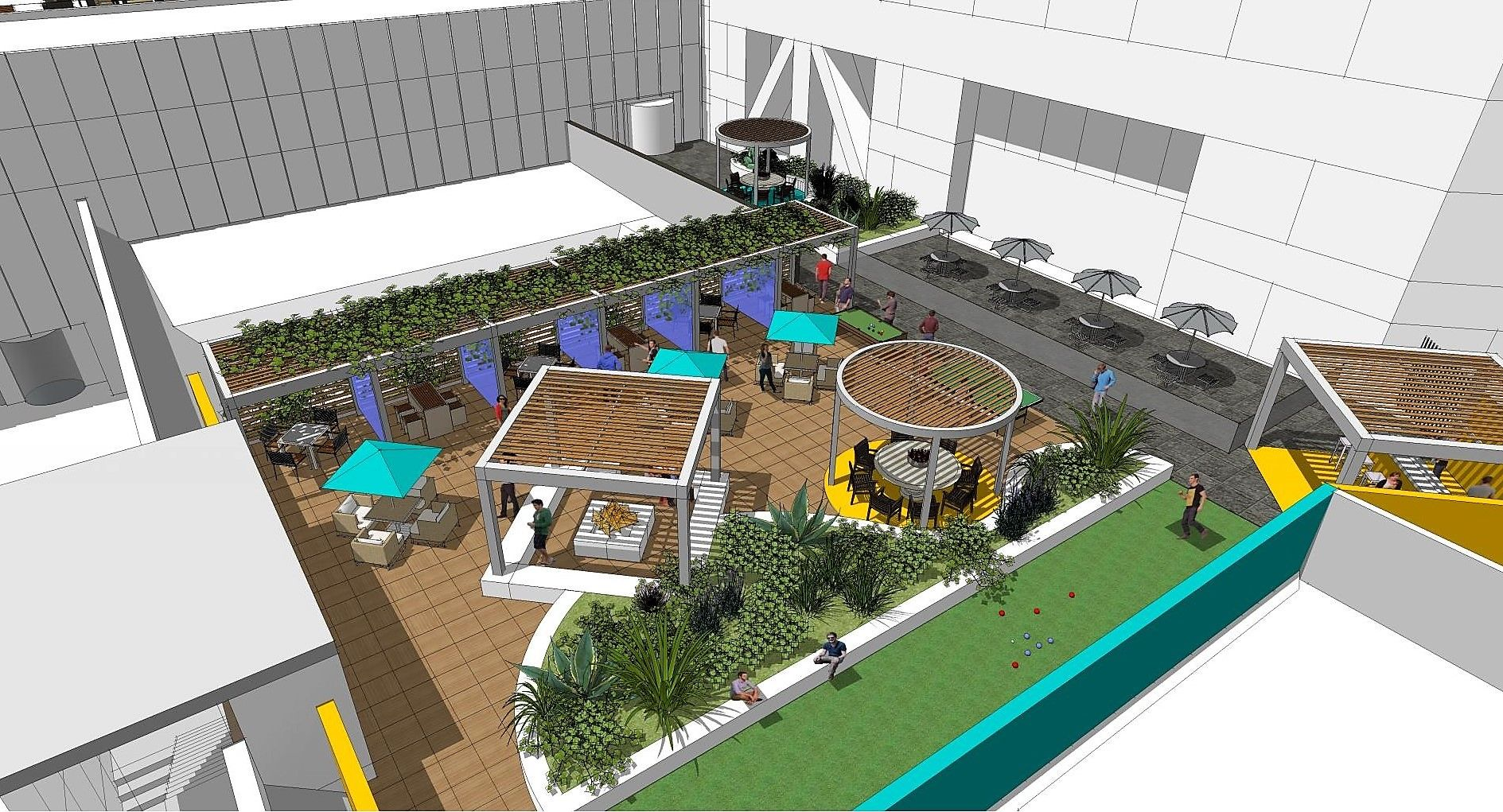 Office Building Amenity Roof Deck Architecture Design Officeleasing Roofdeck Roof Deck Office Building Architecture