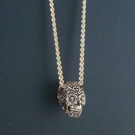 i and i jewellery Day Of The Dead Gold-plated Necklace Dvlg2mGvRZ