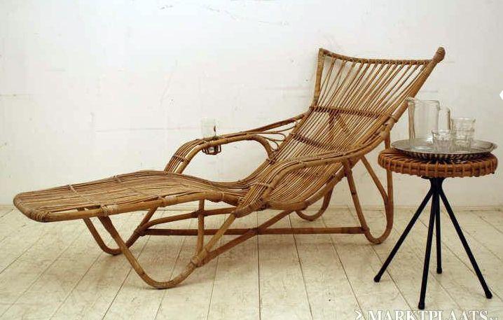 Rotan Lounge Stoel : Rotan relax stoel u daybed u vintage retro u design rohé dirk