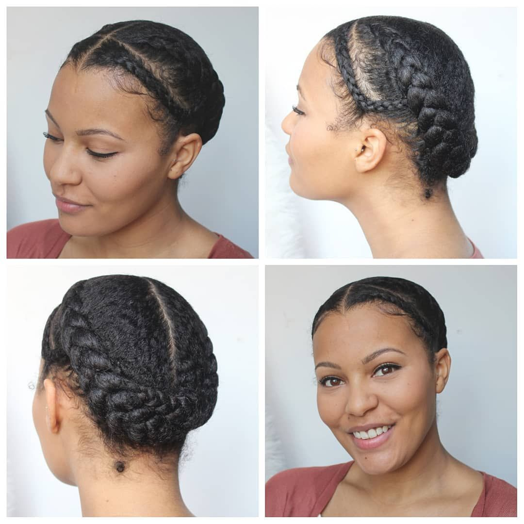 Another Week Another Protective Style After Washing My Hair I Used The Tginatural Hair Mask I Transitioning Hairstyles Hair Styles Braids For Short Hair