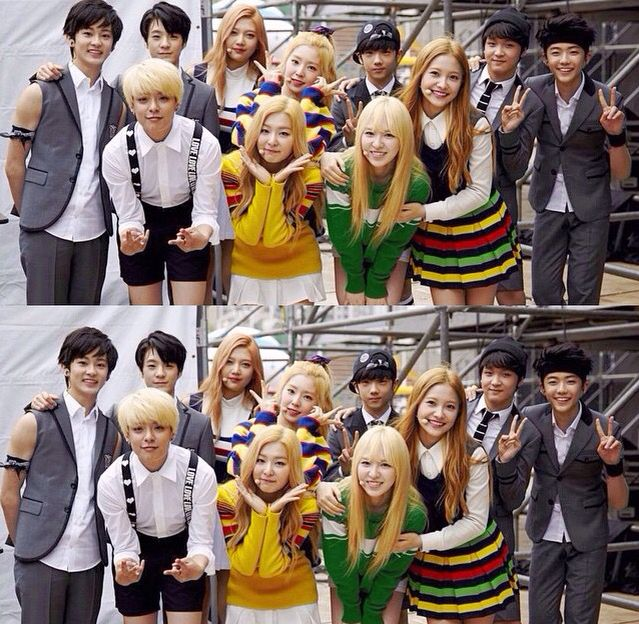 Amber And Red Velvet With SMRookies SMTOWN T Red