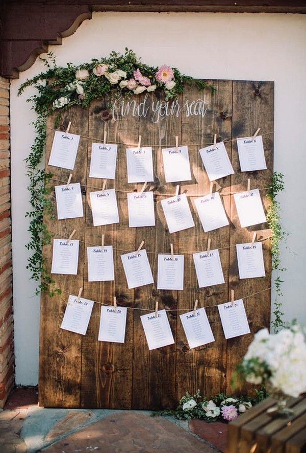 Chic rustic wedding seating chart ideas diyrusticweddingseating