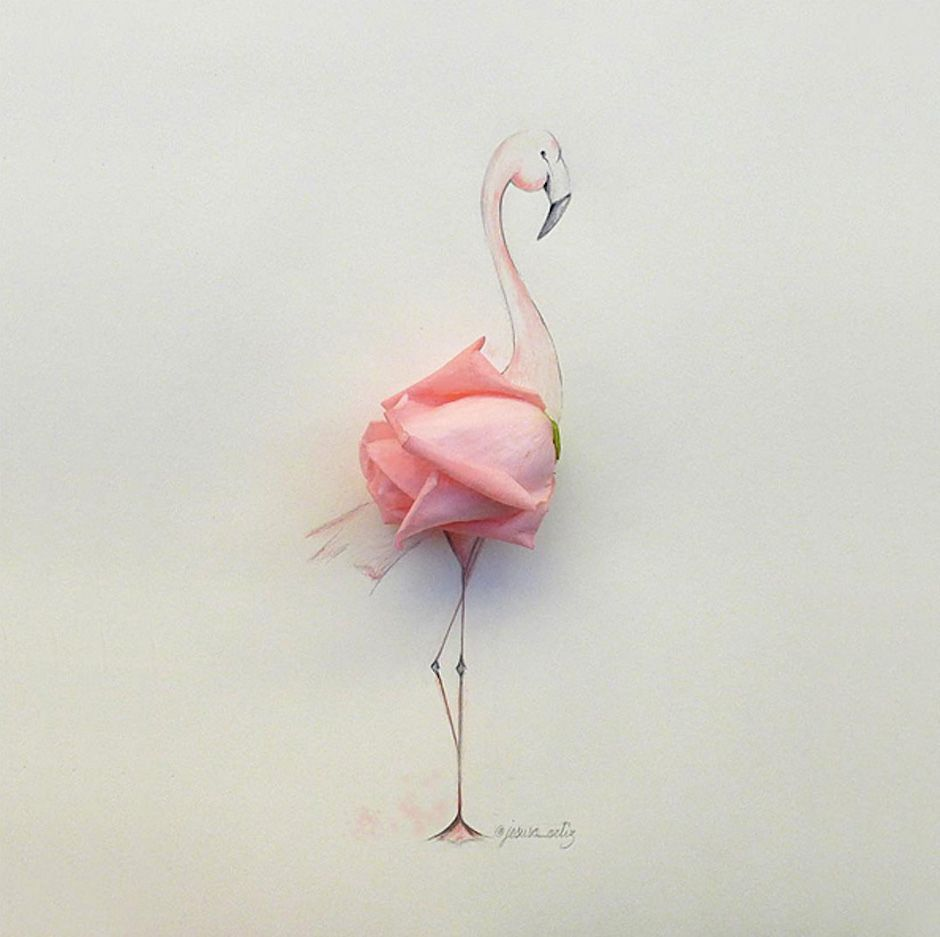 Illustrations and real-life objects by Jesuso Ortiz - Art People Gallery