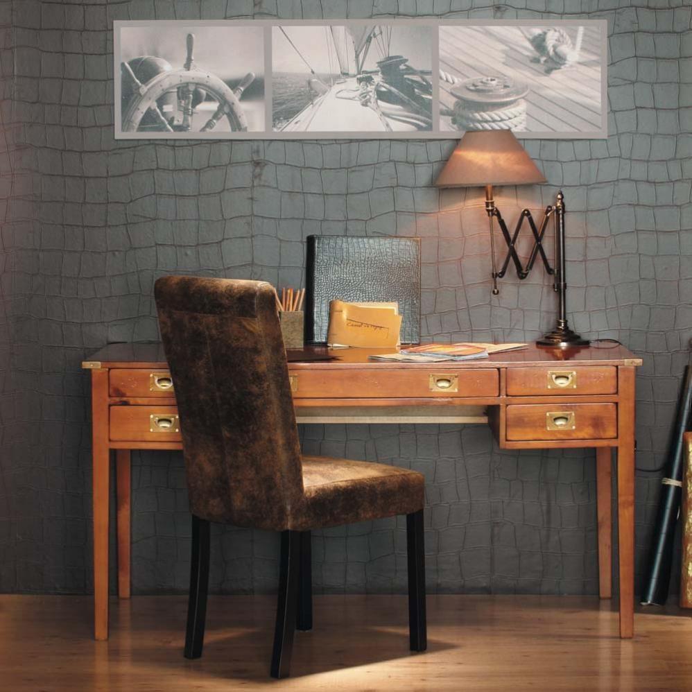 Bureau VOYAGE  Bureau bois massif, Meuble de style, Décoration maison