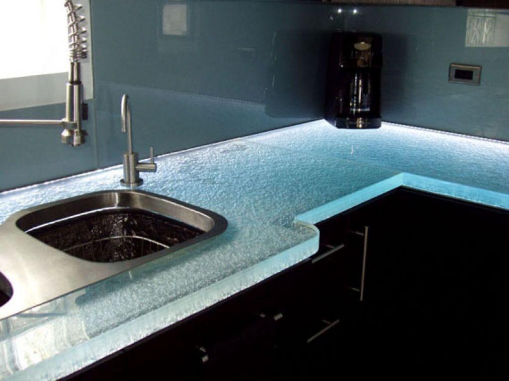 Glass Kitchen Countertops | Kitchen decor, Countertops and Kitchen ...