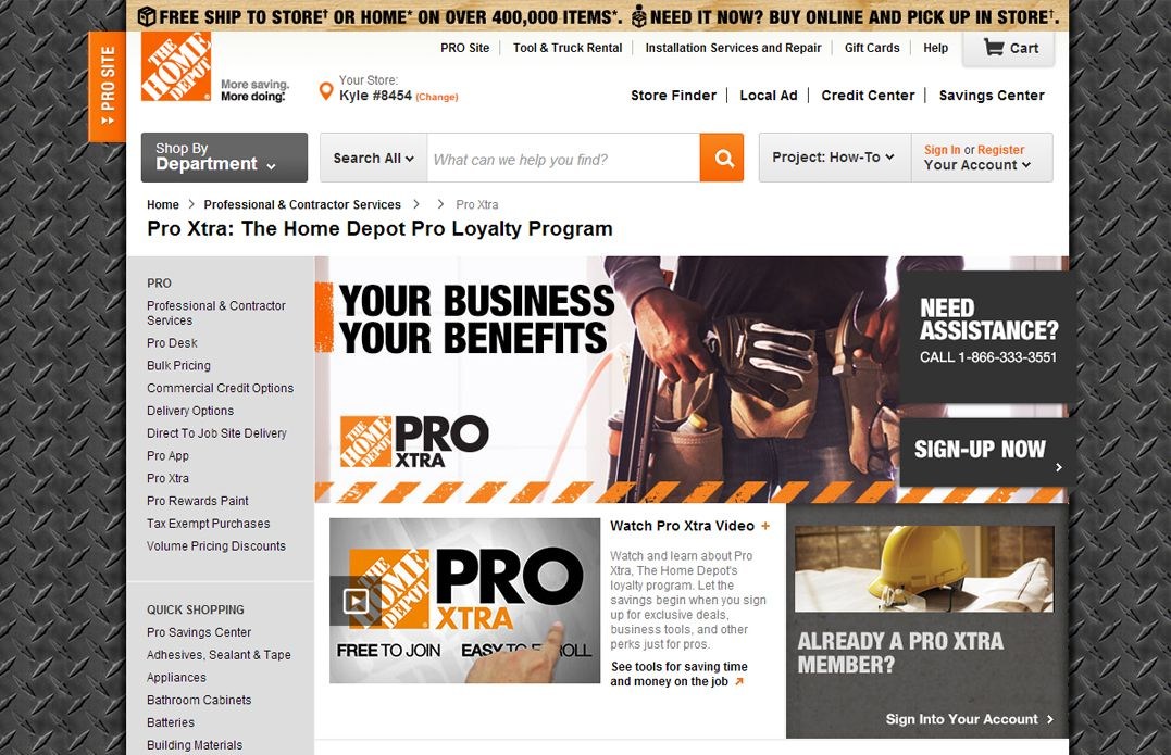 Pro Xtra The Home Depot Loyalty Program