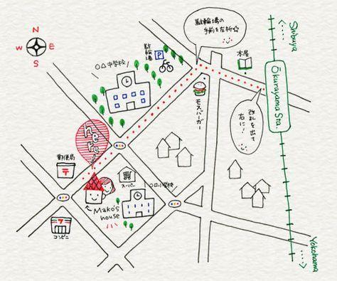 地図のイラスト応用編 画像あり 手書き地図 ブックデザイン 地図