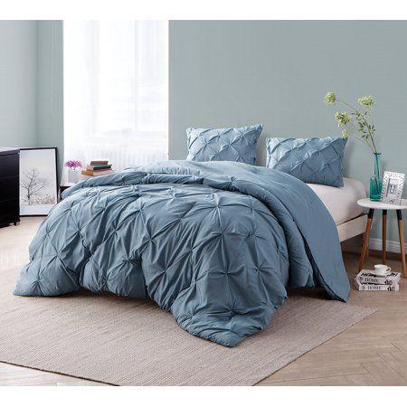 Byb Smoke Blue Pin Tuck Comforter Twin Xl Bedding Twin
