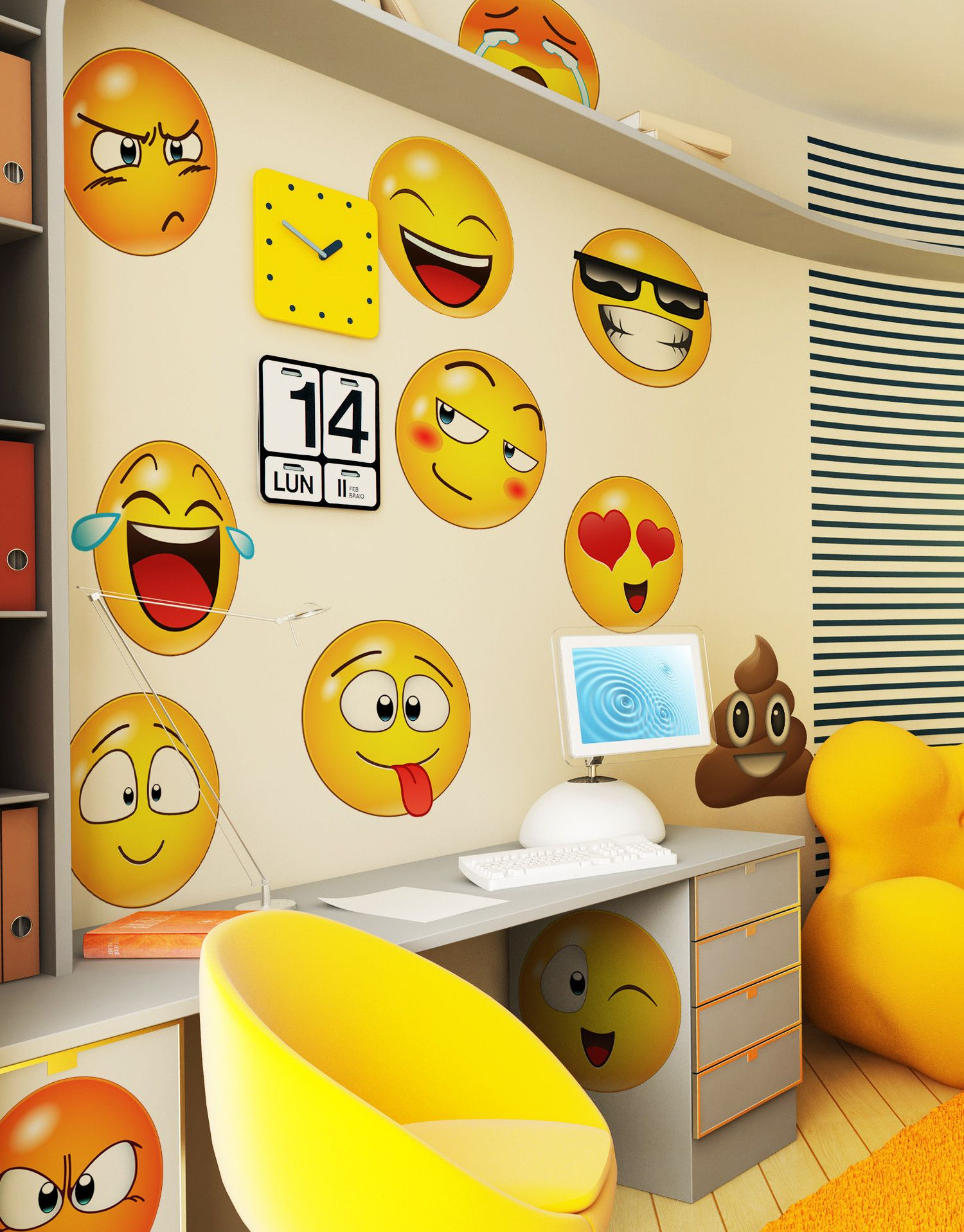 Large Emoji Faces Wall Decal Sticker #6052 | Emoji faces, Emoji and ...