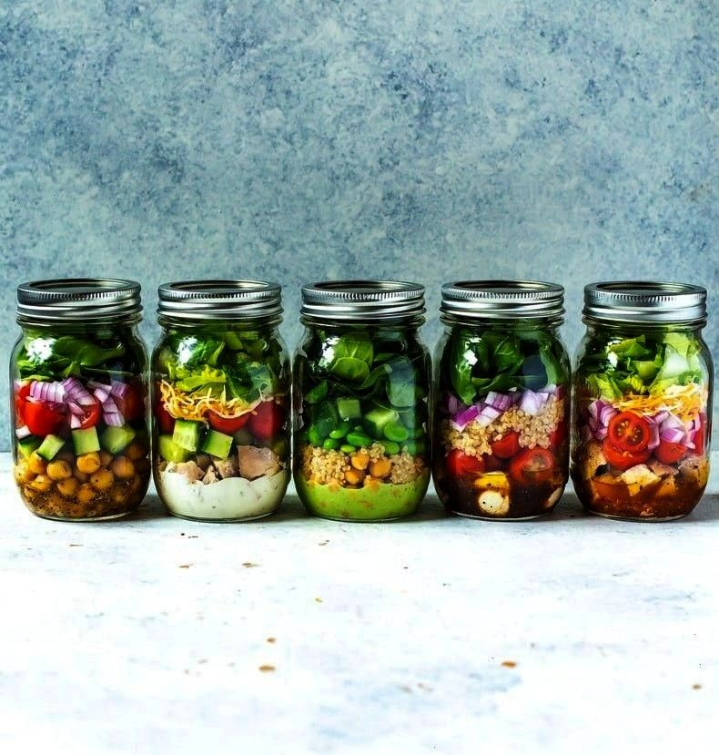 Match Mason Jar Salad Recipes for Easy Lunches! - Clean Eatin -5 Mix and Match Mason Jar Salad Re