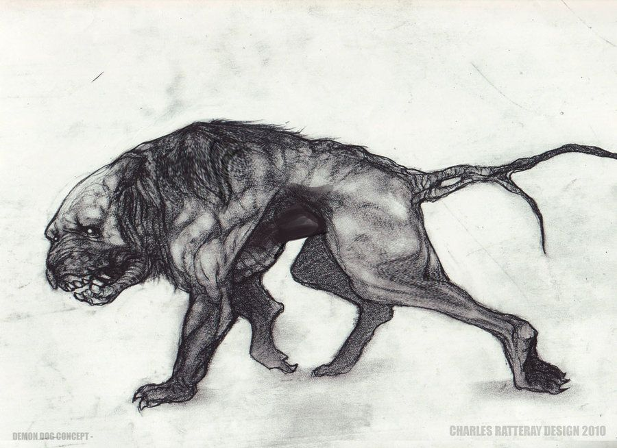 Demon dog final sketch by charlesratteray