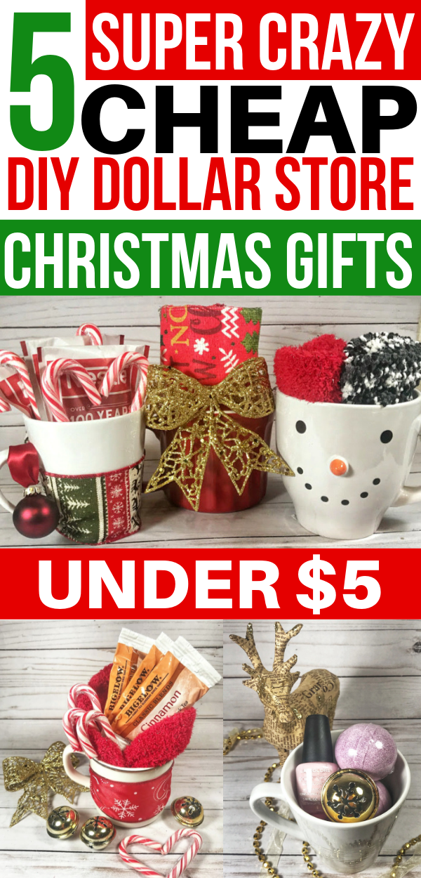 5 Crazy Easy DIY Dollar Store Christmas Gifts Under $5