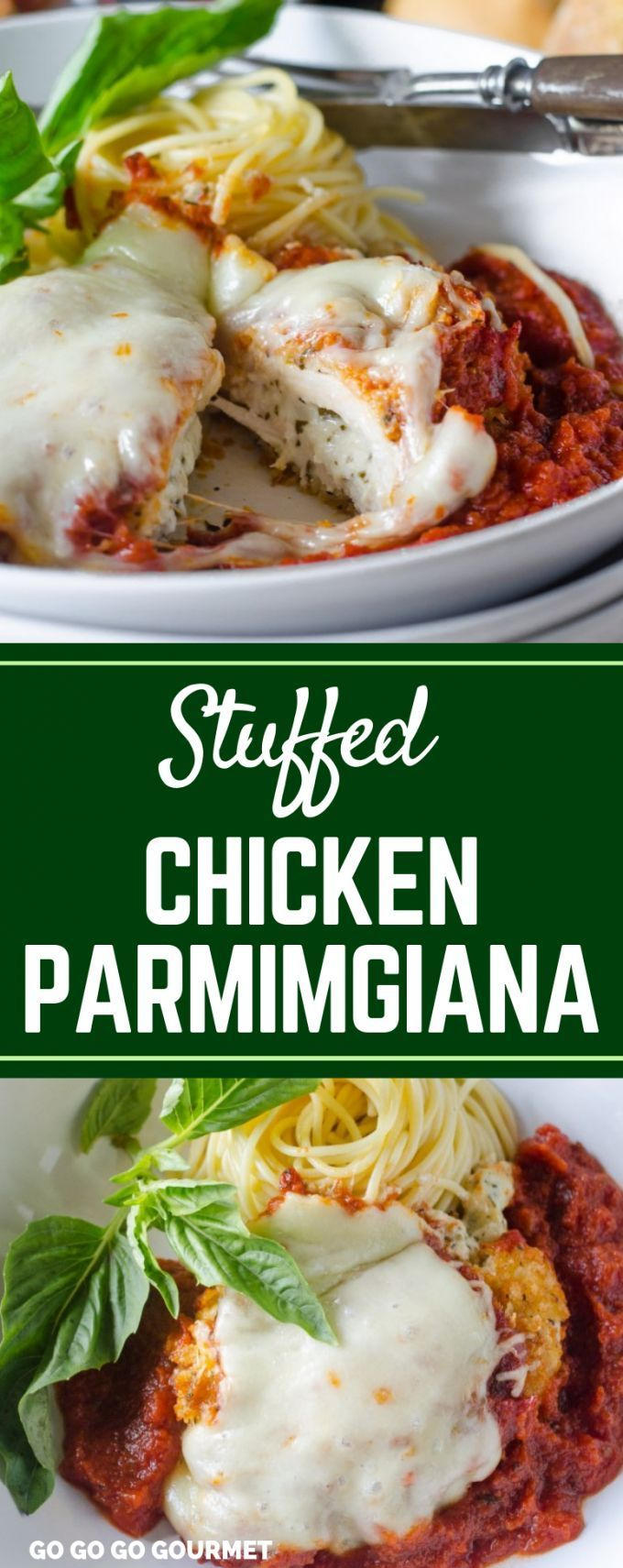 This easy Stuffed Chicken Parmesan recipe is so cheesy and delicious! Stuffed wi... - Amazing Dinner Recipes - #amazing #Cheesy #chicken #Delicious #Dinner #Easy #Parmesan #Recipe #Recipes #stuffed #chickenparmesan