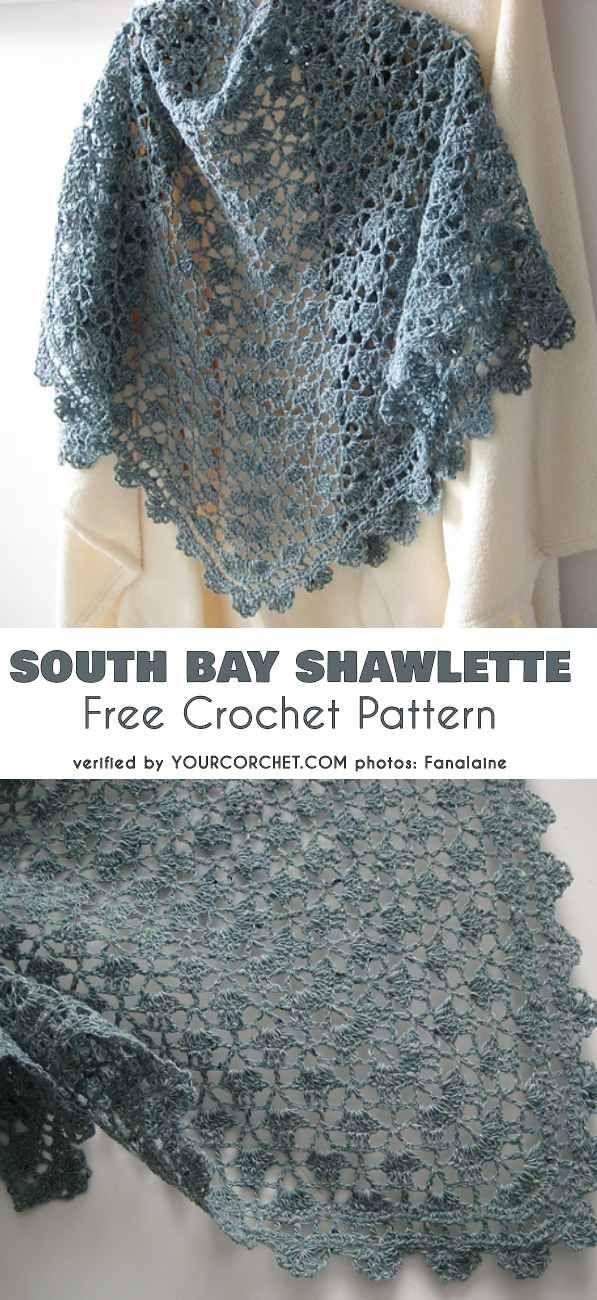 Mahogany Shawl Free Crochet Pattern #shawlcrochetpattern