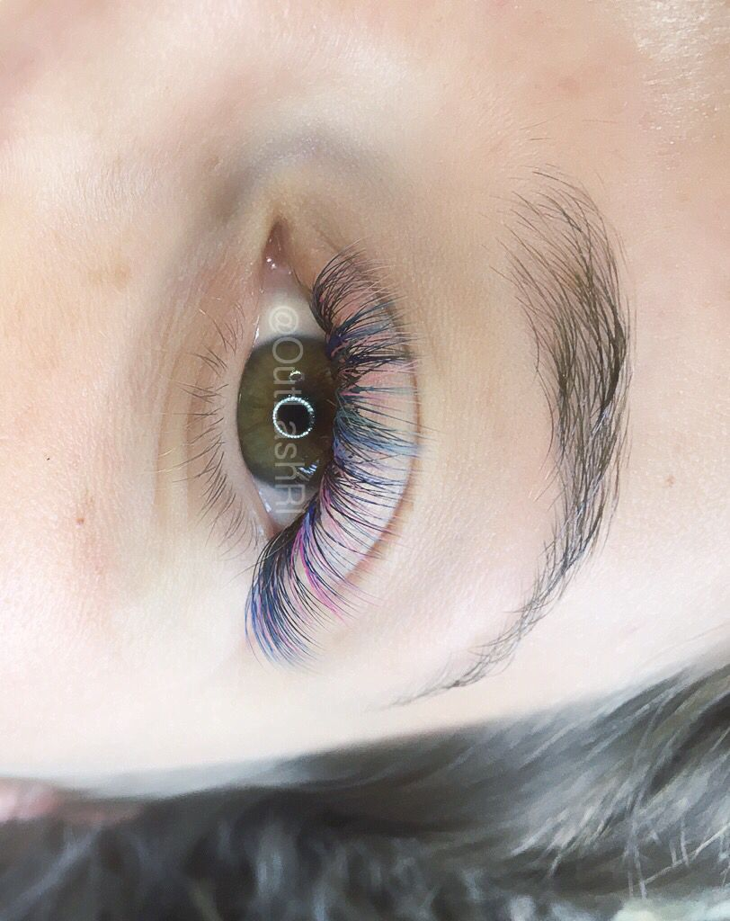 2f8f32b89b3 Unicorn Volume eyelash extensions ! Rainbow Eyelashes by me :) IG:  @OutLashRI