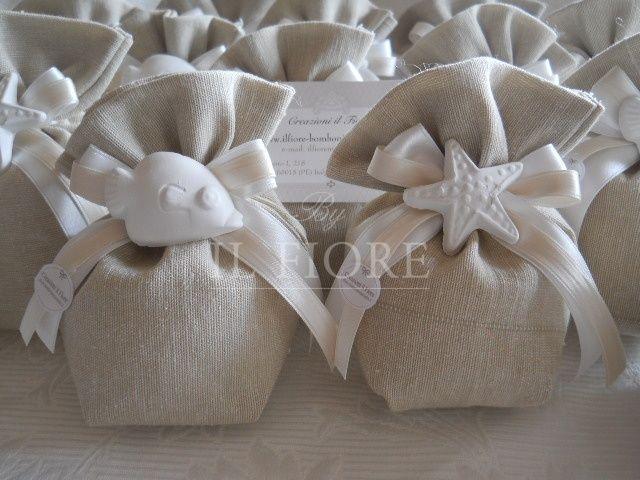 Bomboniera Sacchetto Stile Mare Per Matrimonio E Comunione Cod 20m Bomboniere Decorazioni Per Festa Fai Da Te Sacchetti Per Bomboniere