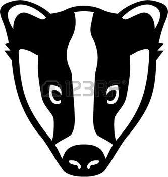 badger stock vector illustration and royalty free badger clipart rh pinterest com Badger Silhouette Snake Clip Art