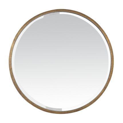 Grand miroir rond en m tal dor grand miroir rond Organisation chambre adulte