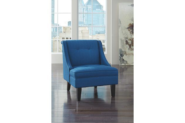 Best Blue Clarinda Accent Chair By Ashley Furniture Fabric 640 x 480