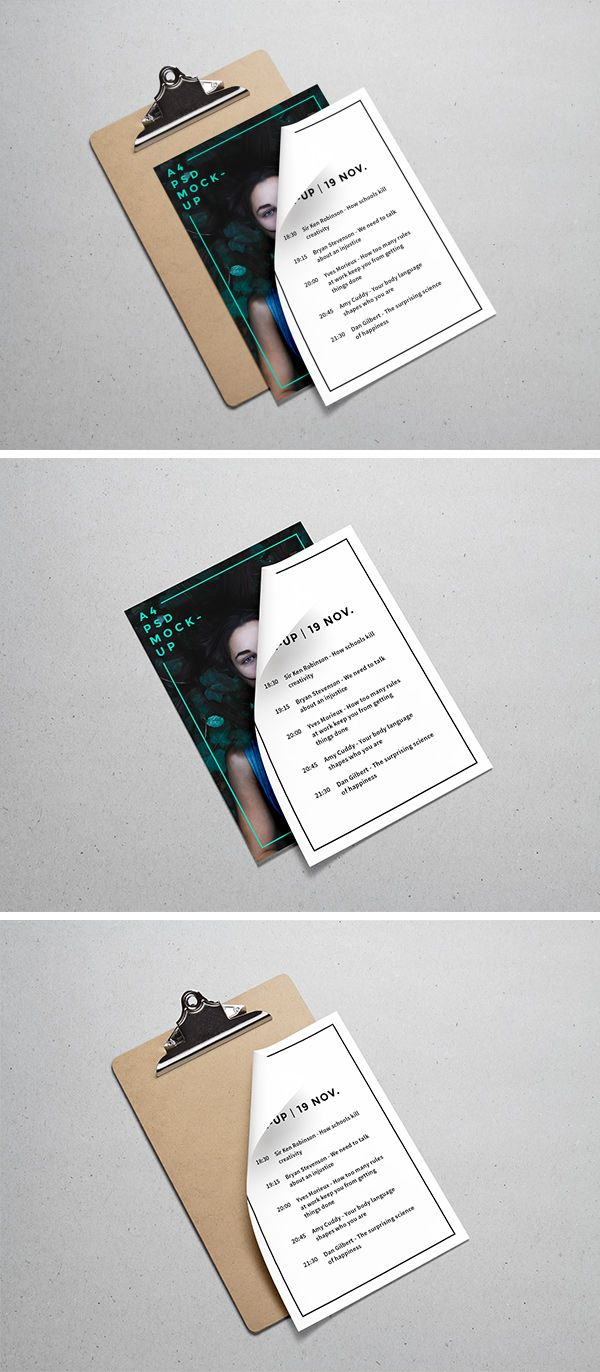 free a4 paper mockup psd template mockups physical media