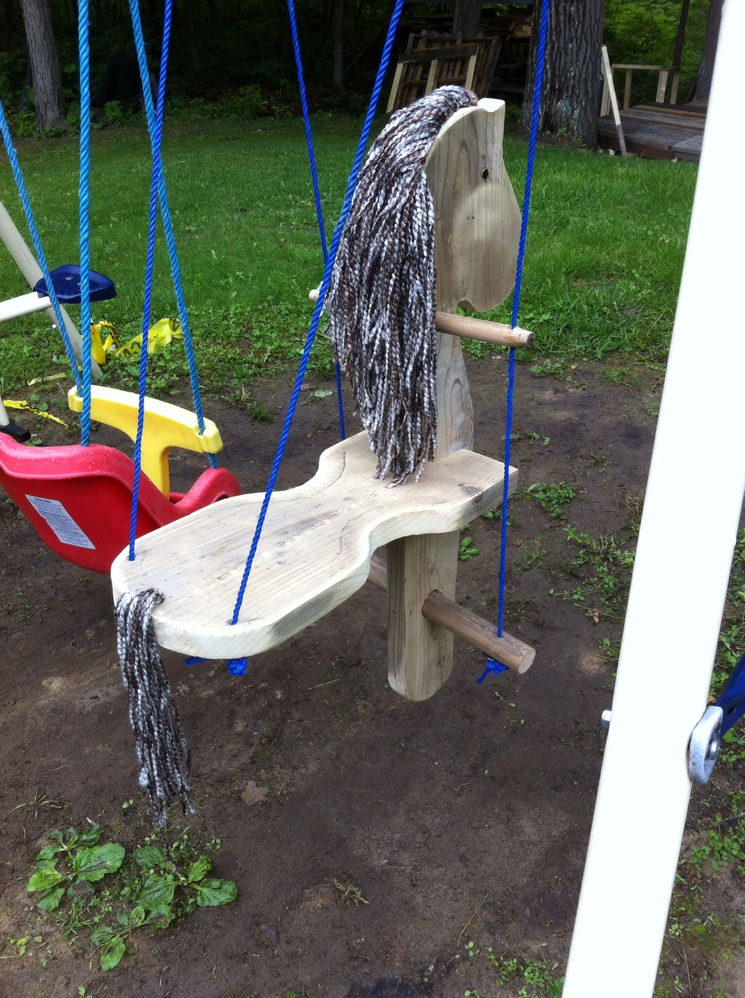 Swing I made for micHayla my grand daughter