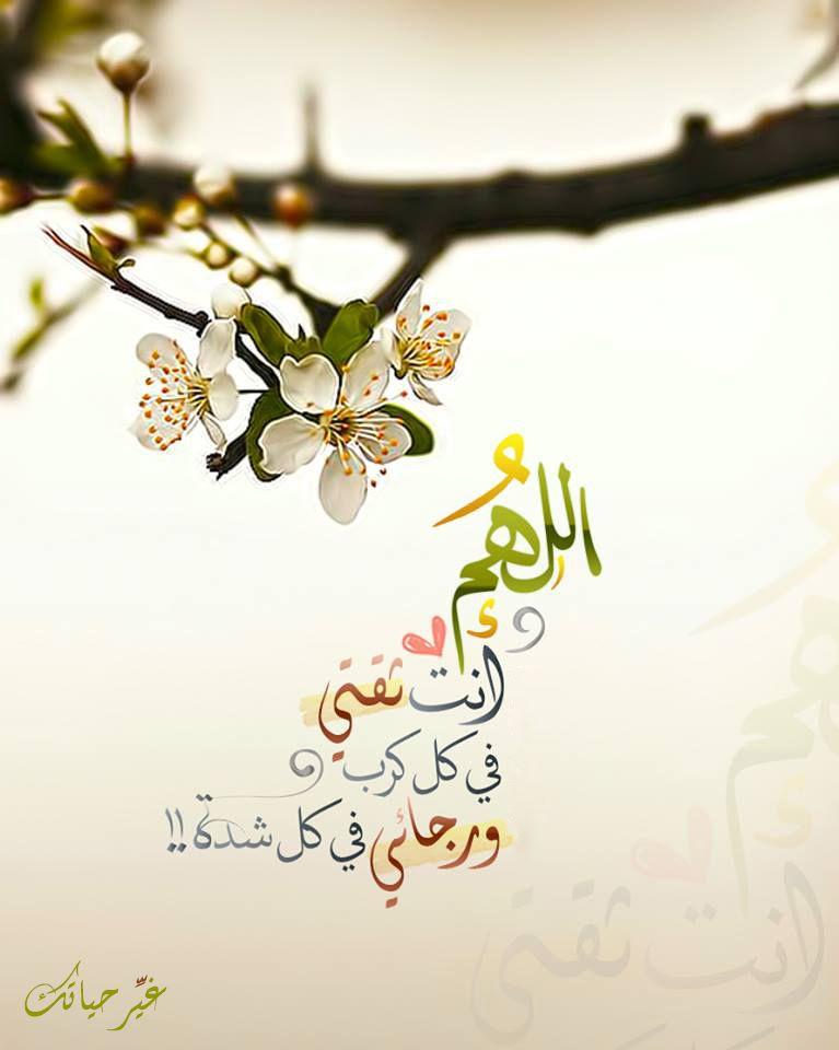 اللهم انت ثقتي في كل كرب ورجائي في كل شدة Beautiful Islamic Quotes Islamic Quotes Wallpaper Islamic Pictures
