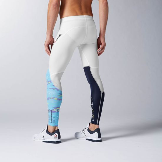 popular stores best prices new authentic Reebok Men's Reebok CrossFit Compression Tight - White ...