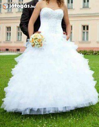 e1063a0024 Nagyon szép menyasszonyi ruha Áron Alul eladó, 1. image | esküvö ...