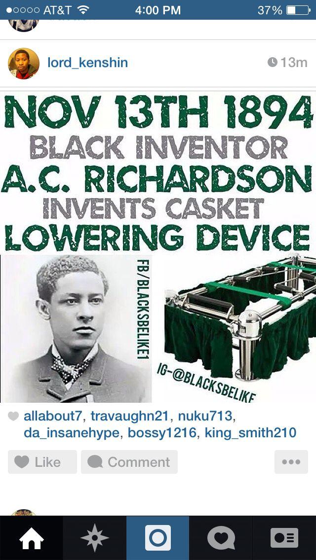 Albert C Richardson Black Inventors Black History African