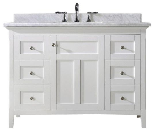 Marvelous White Bathroom Vanities Kingston 48quot Vanity