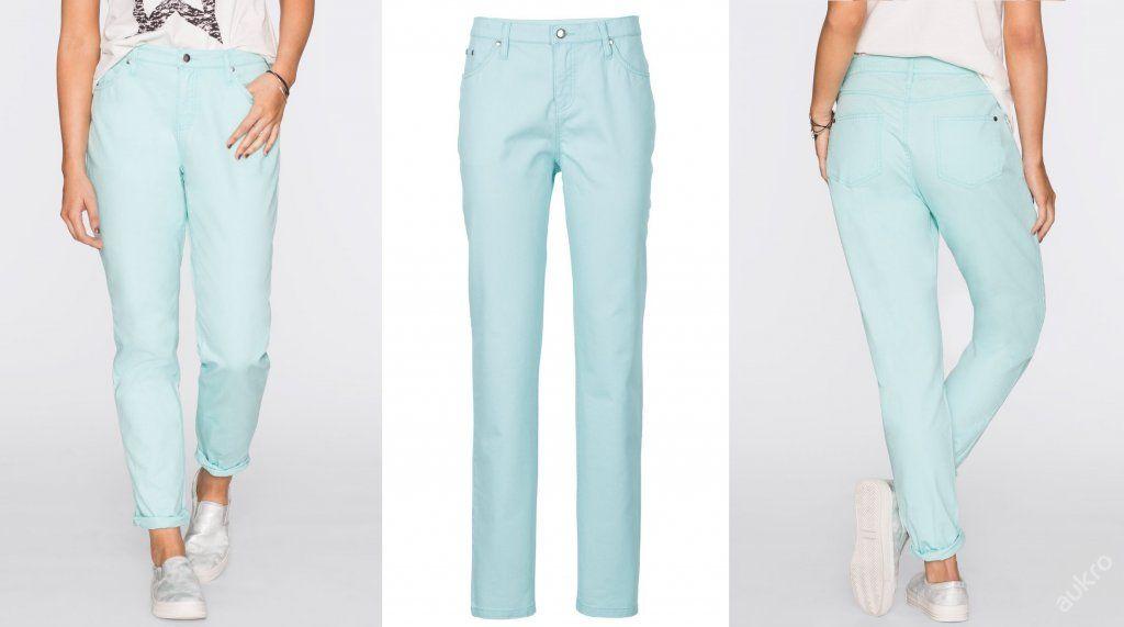 NOVÉ ,,RAINBOW jemně barevné kalhoty vel.44,50,52,56 - 2 barvy :: AVENTE ...móda s nápadem