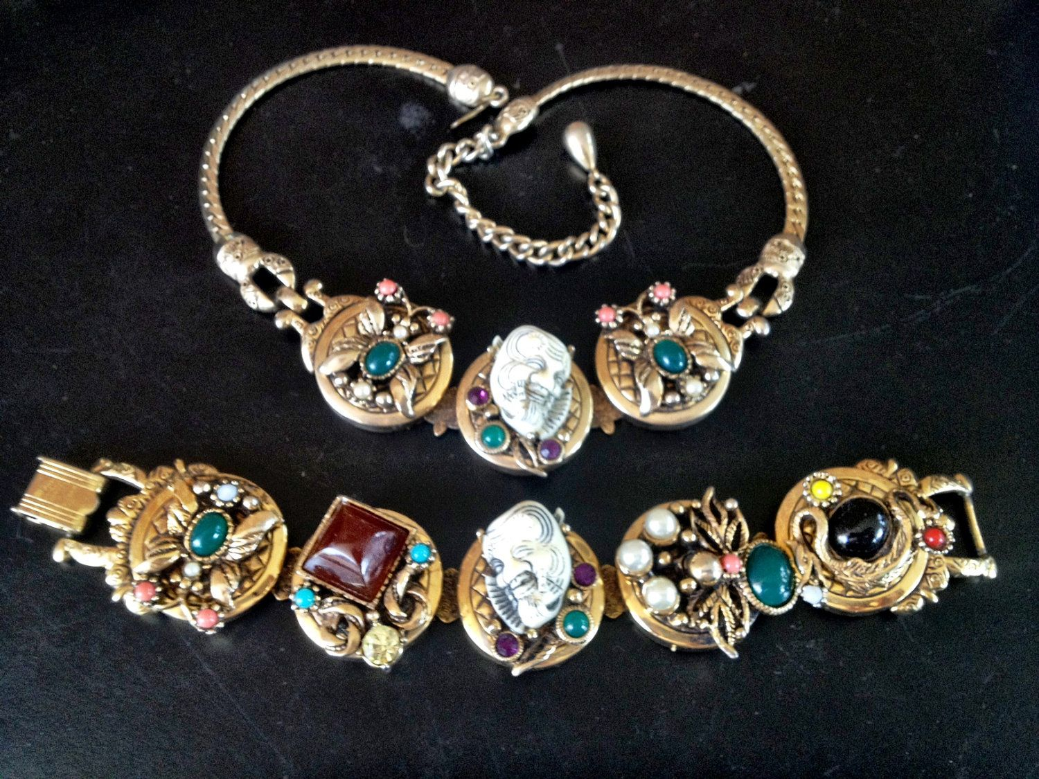 1950's Vintage Selro Devil Face Necklace and by TheModPasse, $695.00