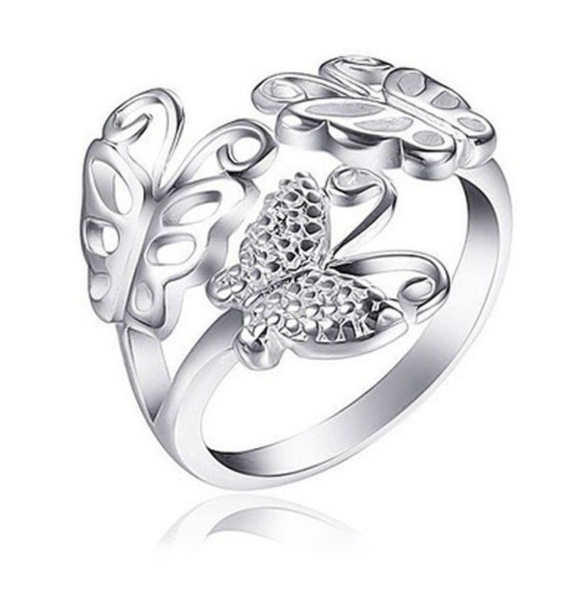 Butterfly Ring Adjustable Ladies One Size Fits All Rings for Women ...