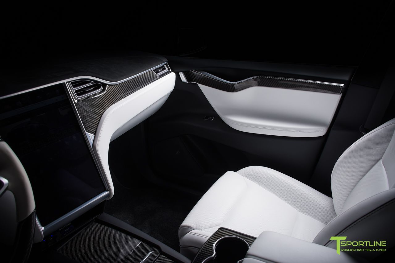 Tesla model  ultra white interior with gloss carbon fiber dash panel kit by  sportline also de beste bildene om visa  pinterest rh no