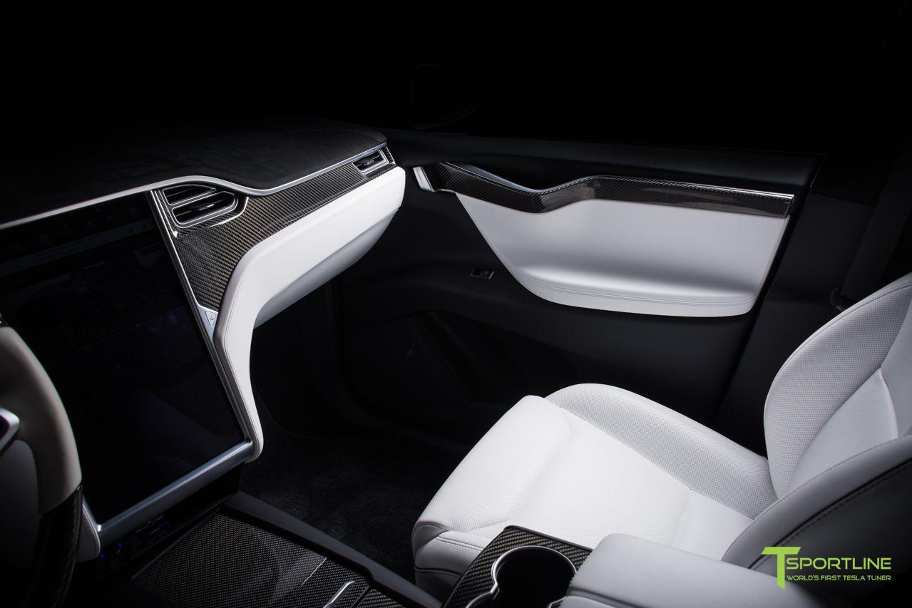 Tesla Model X Carbon Fiber Dash Panel Kit Tesla Tesla Model X Tesla Model