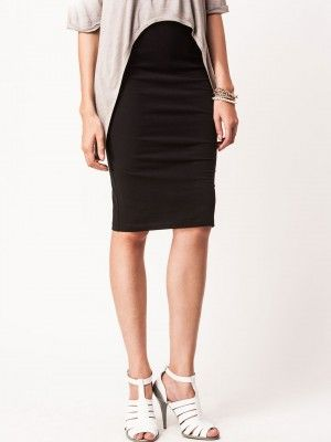 KOOVS Metallic Swirl Pencil Skirt | skirts online | Pinterest ...