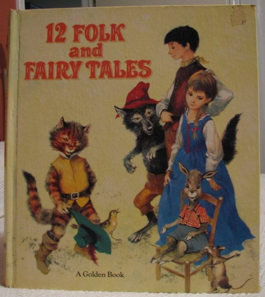 vintage kids book 12 Folk and Fairy Tales by OnceUponABookshop, $7.50