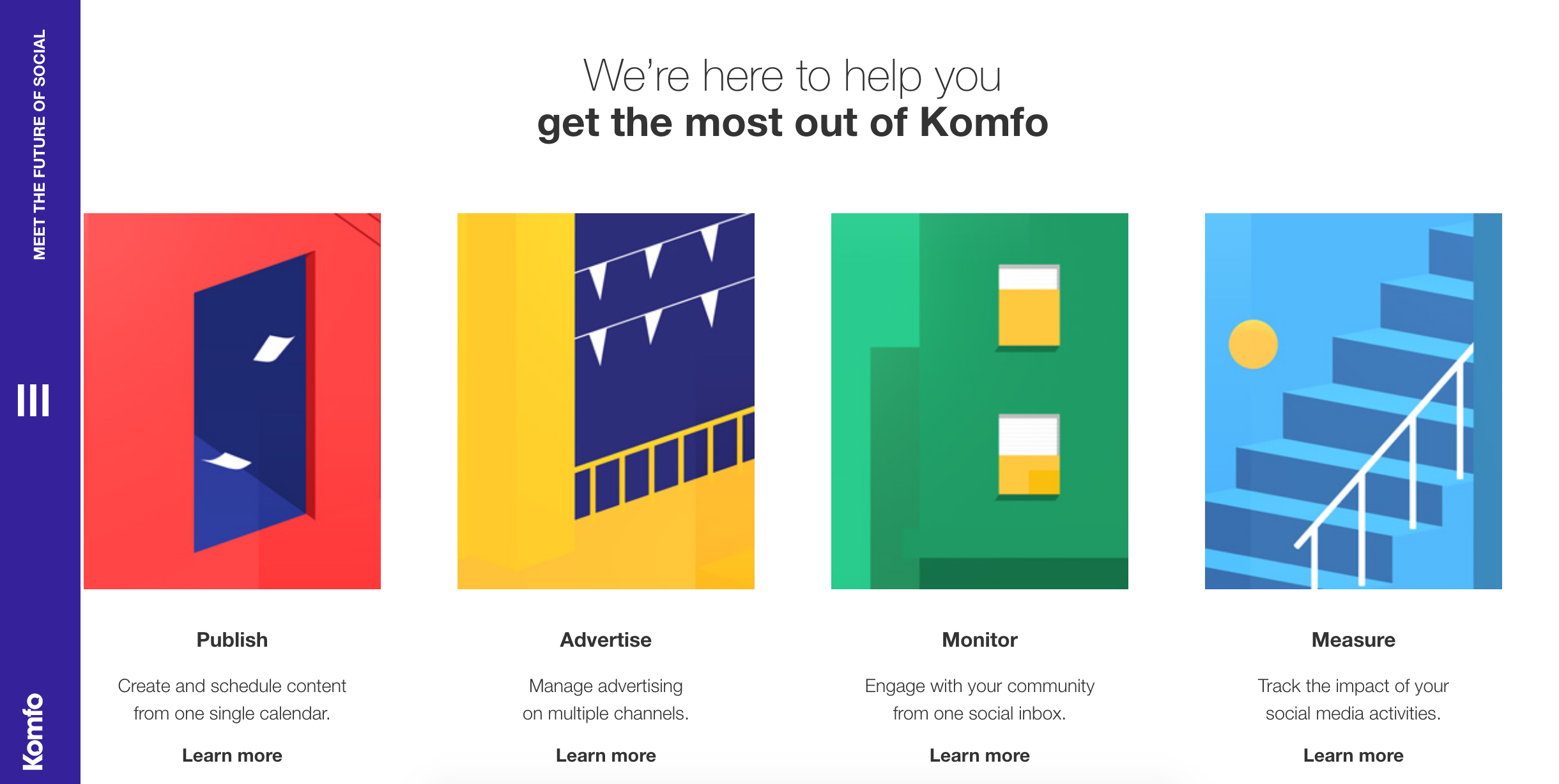The Colorful Intuitive Design Of Komfos Help Center