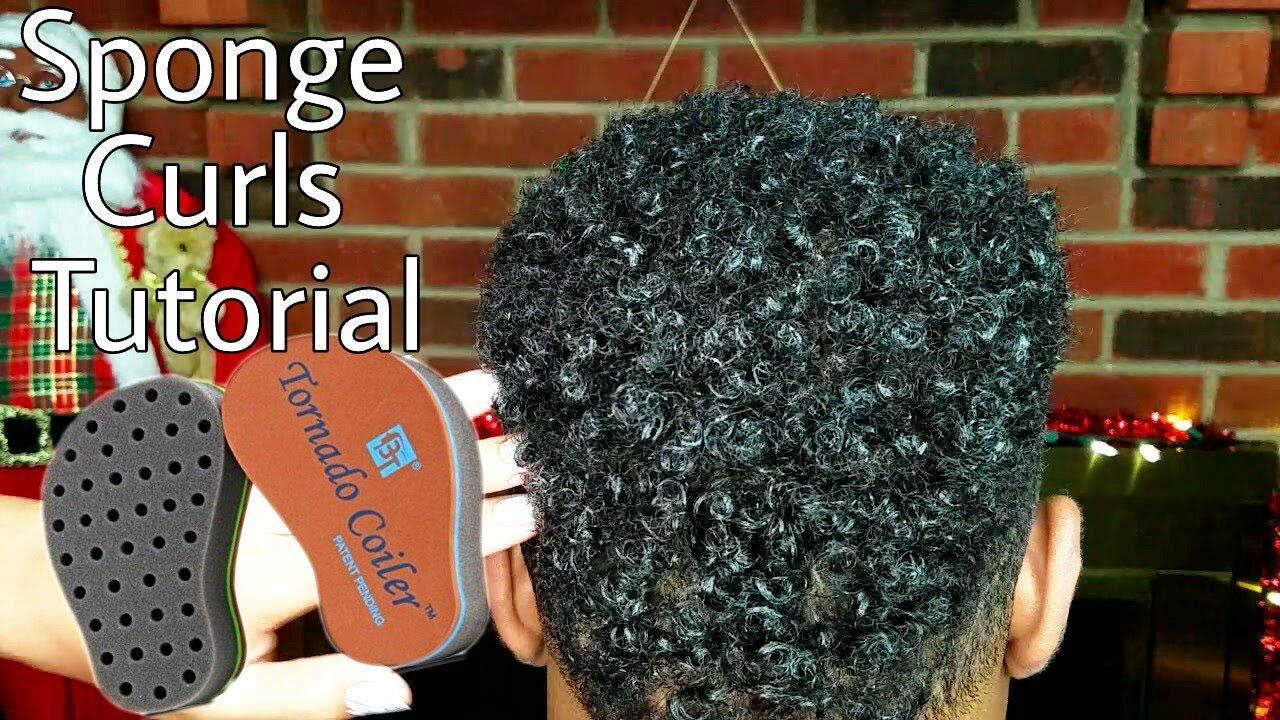 Twists Sponge Tutorial How To Use Hair Curl Sponge Hd Natural Hair Styles Mens Hair Care Black Curly Hair