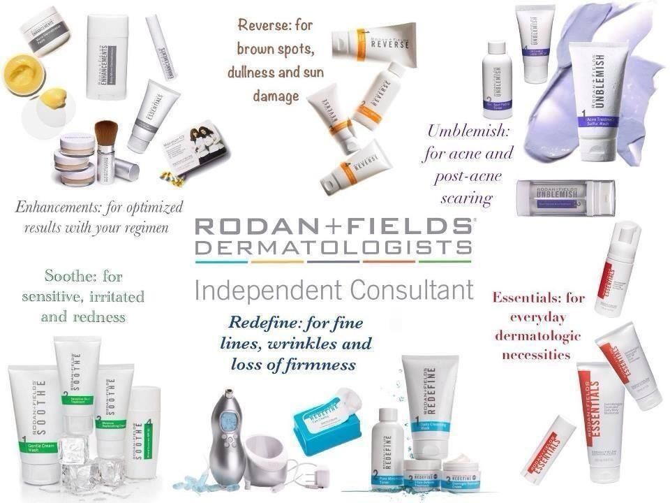 All of our great products rodan and fields rodan my